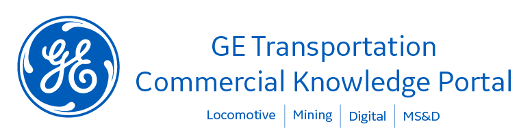 GE Transportation Commercial Knowledge Portal